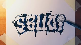 How to Draw SBUCI in Graffiti Letters