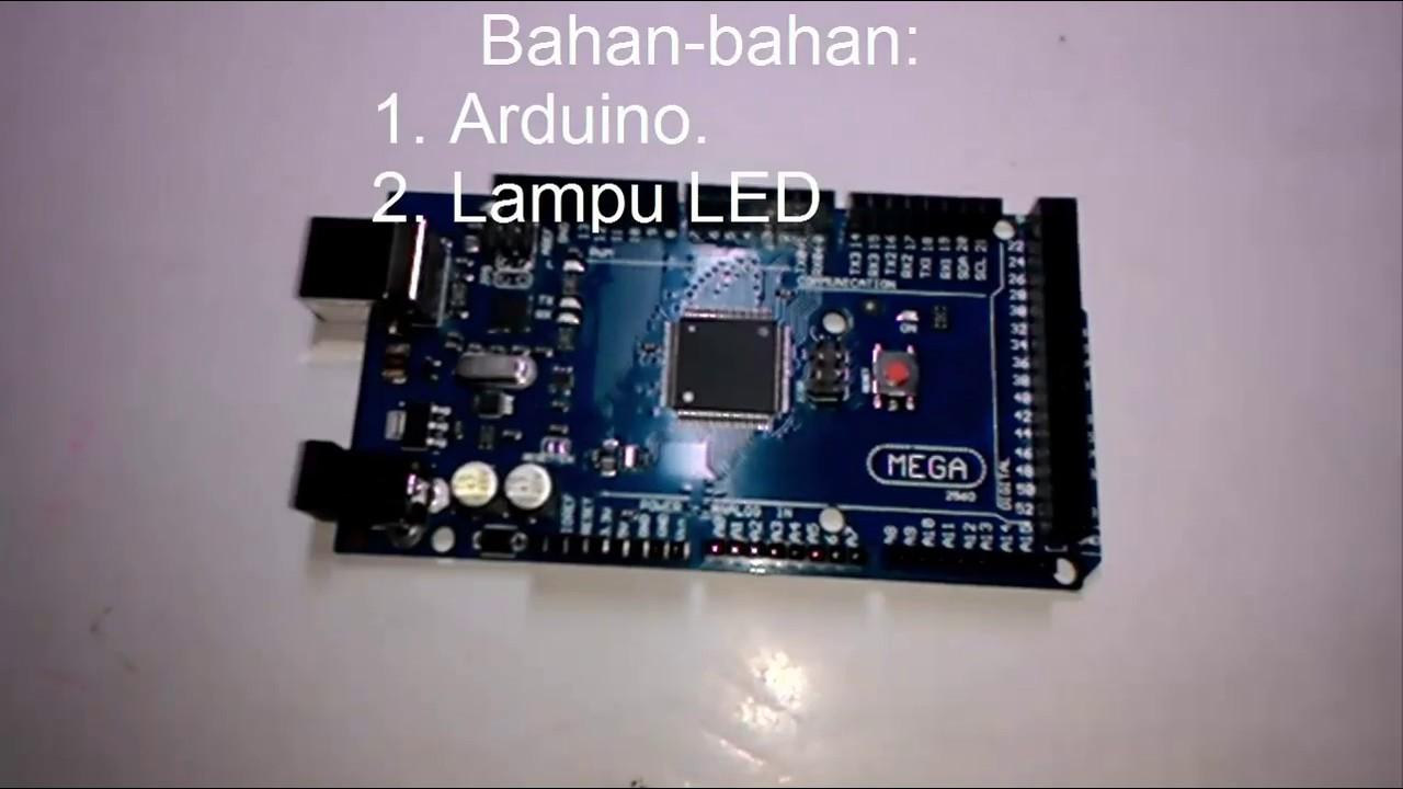 Arduino dasar lampu led berkedip blink youtube