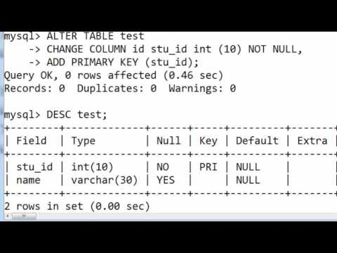 64. CHANGE COLUMN Name And Its Data Type With Constraint In SQL (Hindi)
