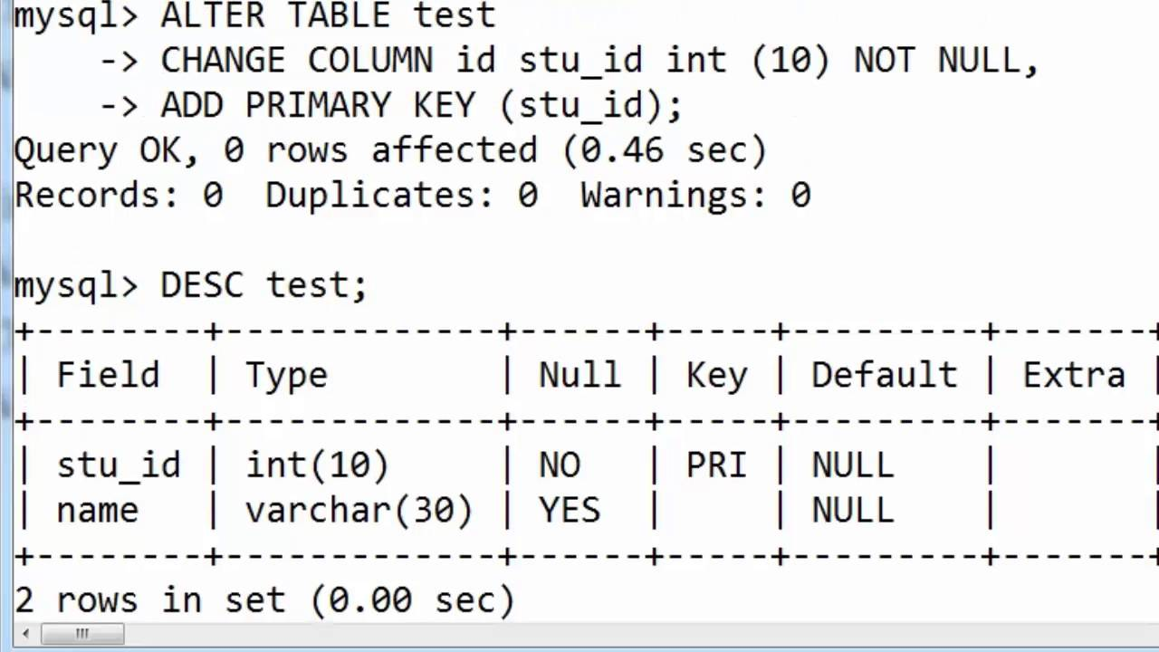 64. CHANGE COLUMN name and its Data Type with constraint in SQL ...