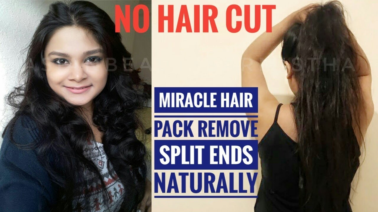 Watch Remove the split ends with a banana video