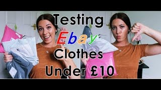 TESTING EBAY CLOTHES UNDER £10/ HIT OR MISS? TRY-ON