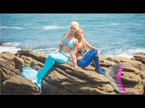 Frozen Elsa Becomes a Mermaid! w/ Spiderman Pink Spidergirl Anna & Joker Superhero Fun in Real Life