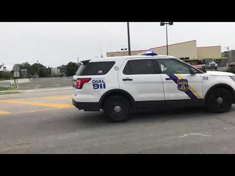 PHILADELPHIA POLICE DEPARTMENT INTERCEPTOR UTILITY RESPONDING ON GRAYS FERRY AVENUE IN PHILADELPHIA.