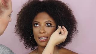 Glam Party Make-Up look for Winter with Model Natalie Gayle