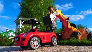 قصة سينيا وجرار وسيارة صغيرة