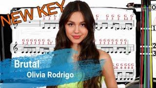 Brutal | Olivia Rodrigo | Violin SHEET MUSIC [With Fingerings] [Level 4] New Key
