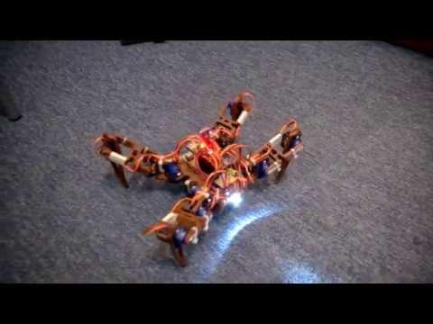 Spider Robot Quadruped 3D printed, servo 9G