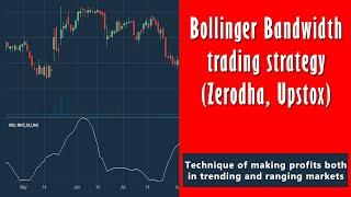 bollinger Bandwidth indicator trading strategy (Zerodha, Upstox)