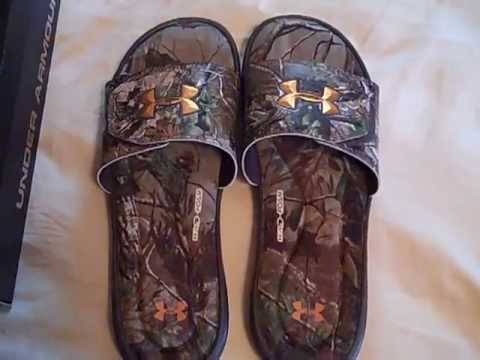 6cd1f20291c8ca Under Armour Ignite II Camo Slides Review - YouTube