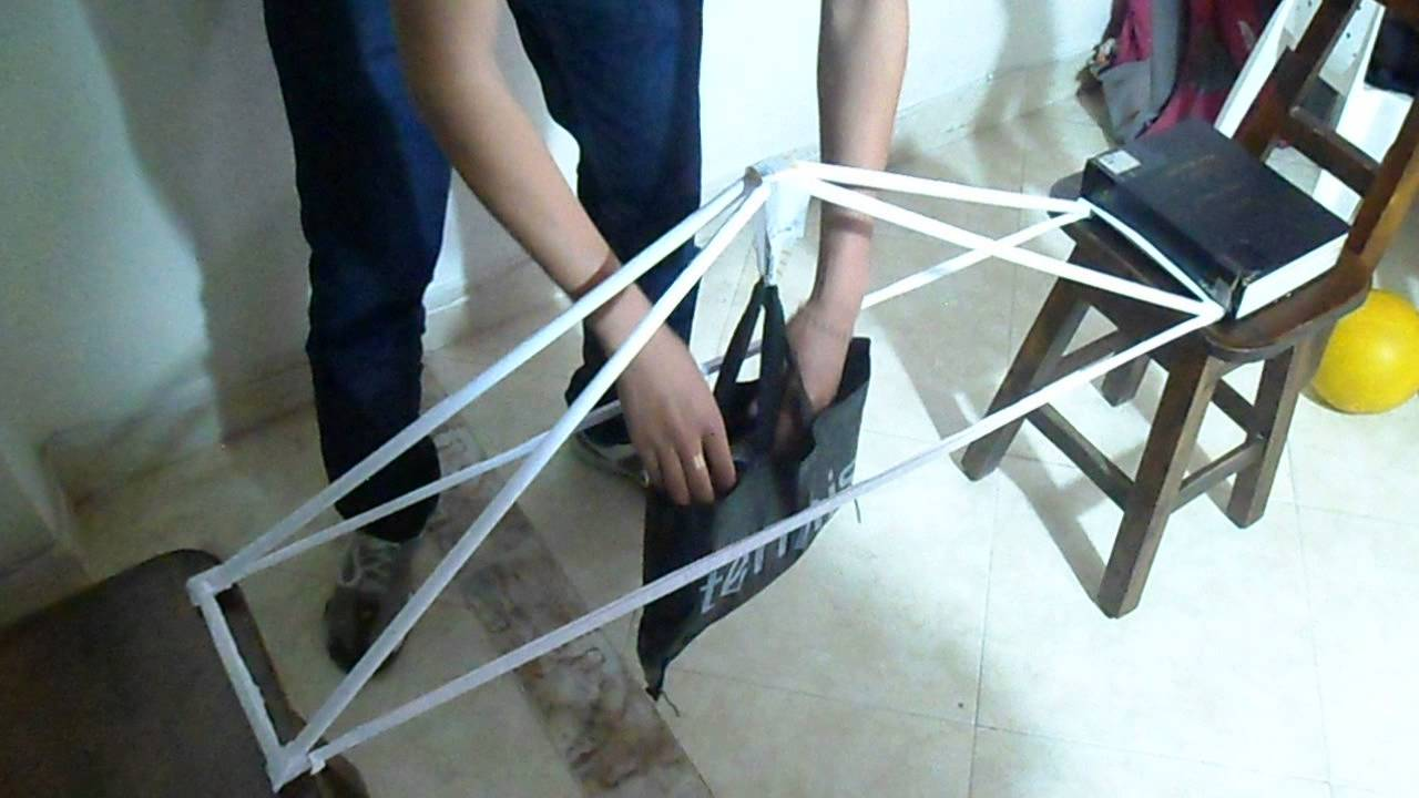 Paper Bridge Truss Competition 2013 Epic Fail