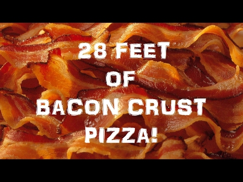 All Bacon Crust Pizza No Dough!