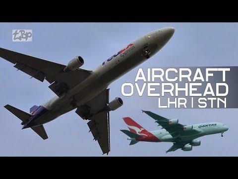 Plane Spotting Heathrow Stansted Airport London Planes Flying Overhead Qantas Qatar A380 British Air