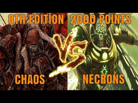 Necrons Vs World Eaters 2000 Points 8th Edition