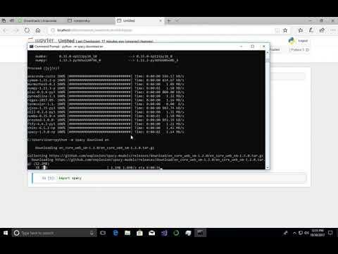03: Spacy on Windows 10