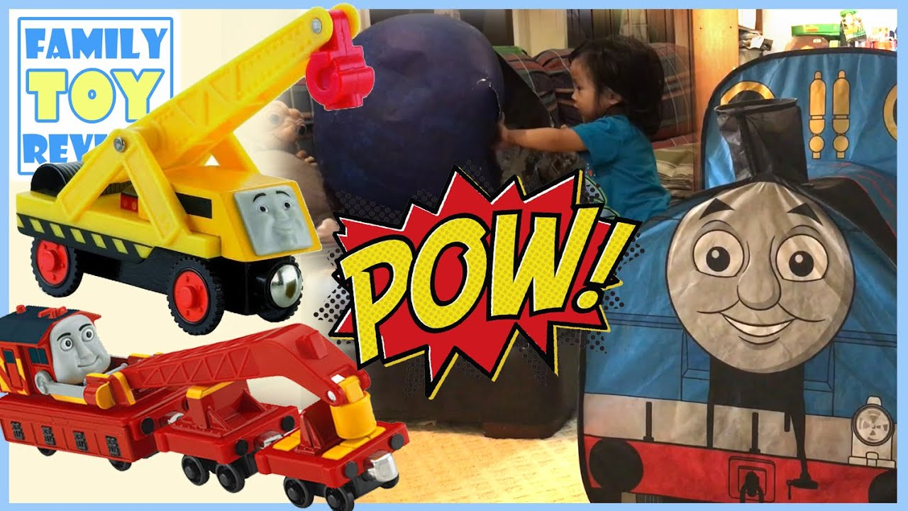 Play Tent Playtime - Thomas Friends The Great Race and The Giant Surprise Egg Toys FamilyToyReview & Play Tent Playtime - Thomas Friends The Great Race and The Giant ...