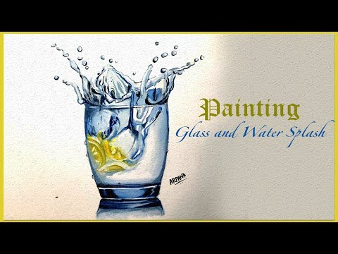 Best Speed Painting - Water Splash - Enjoy Fun and Easy Tutorial