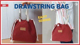 DIY DRAWSTRING BAG TUTORIAL/ T…