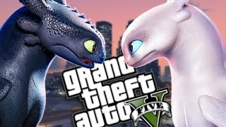 THE NEW HOW TO TRAIN YOUR DRAGON: HIDDEN WORLD MOD (GTA 5 PC Mods Gameplay)
