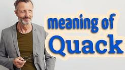 Quack   Meaning of quack