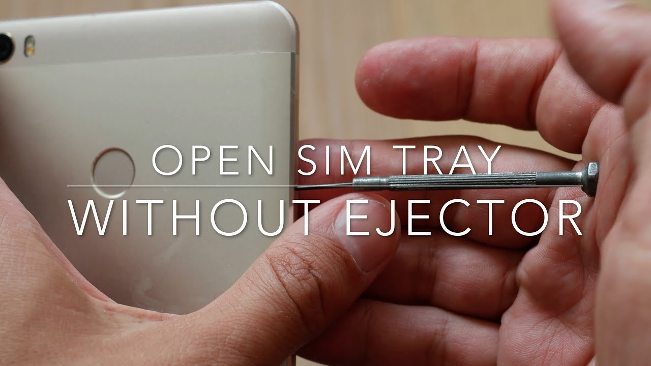 How to open a SIM tray without ejector tool