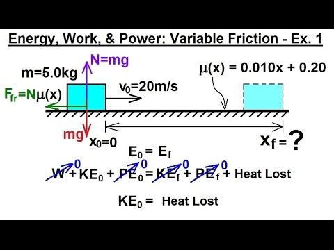 Physics Mechanics Energy Work And Power 1 Of 3