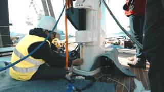 Perini Navi : 38m S/Y Dahlak : Launch & Mast Step