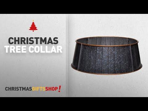 Most Popular Christmas Tree Collar: Metal Tree Collar (Galvanized Grey)