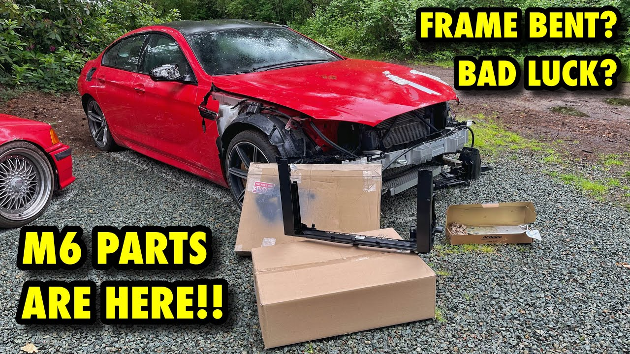 Rebuilding A 2018 BMW M6 From Copart! FRONT END COMING TOGETHER! (Part 4)