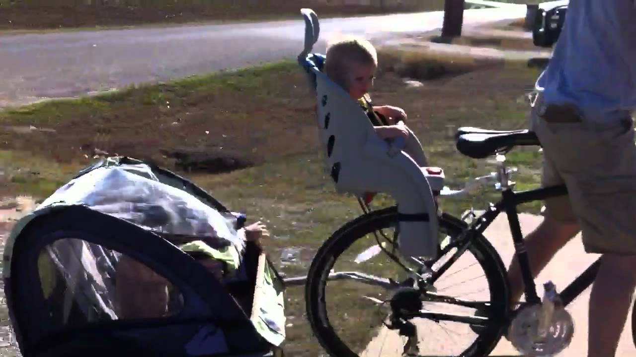 Bike Bicycle Trailer Child Baby Carrier Bike Seat Youtube