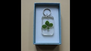 How to make key rings with four-leaf clovers