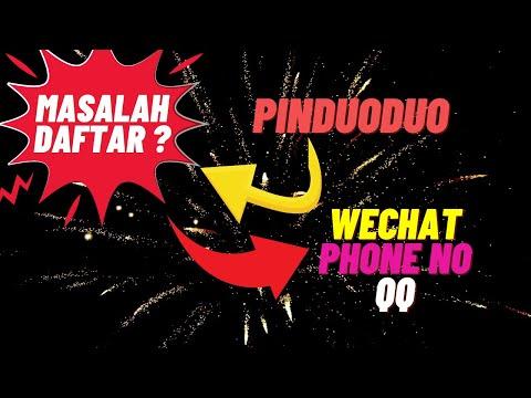 Cara Daftar Pinduoduo App Guna Mobile Phone No SMS