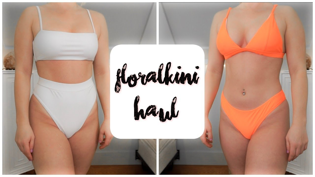 9e1d9be82b5c1 Testing Floralkini Swimwear! // Floralkini Try-On Haul - YouTube