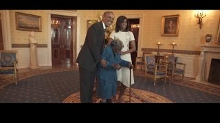 Watch This 106-Year-Old Woman Dance with President Obama and The First Lady
