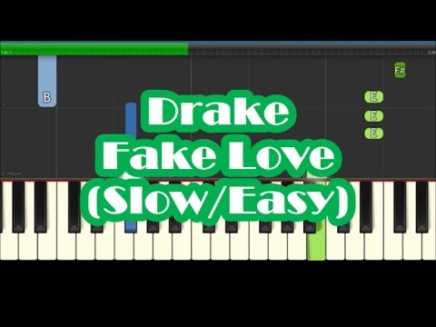 Drake - Fake Love - Slow Easy Piano...