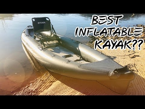 STAR PIKE INFLATABLE FISHING KAYAK By NRS! (Crazy Fast)