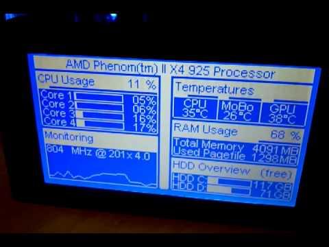 SDC Megtron LCD - Ampire AG-240128G - T6963C mp4