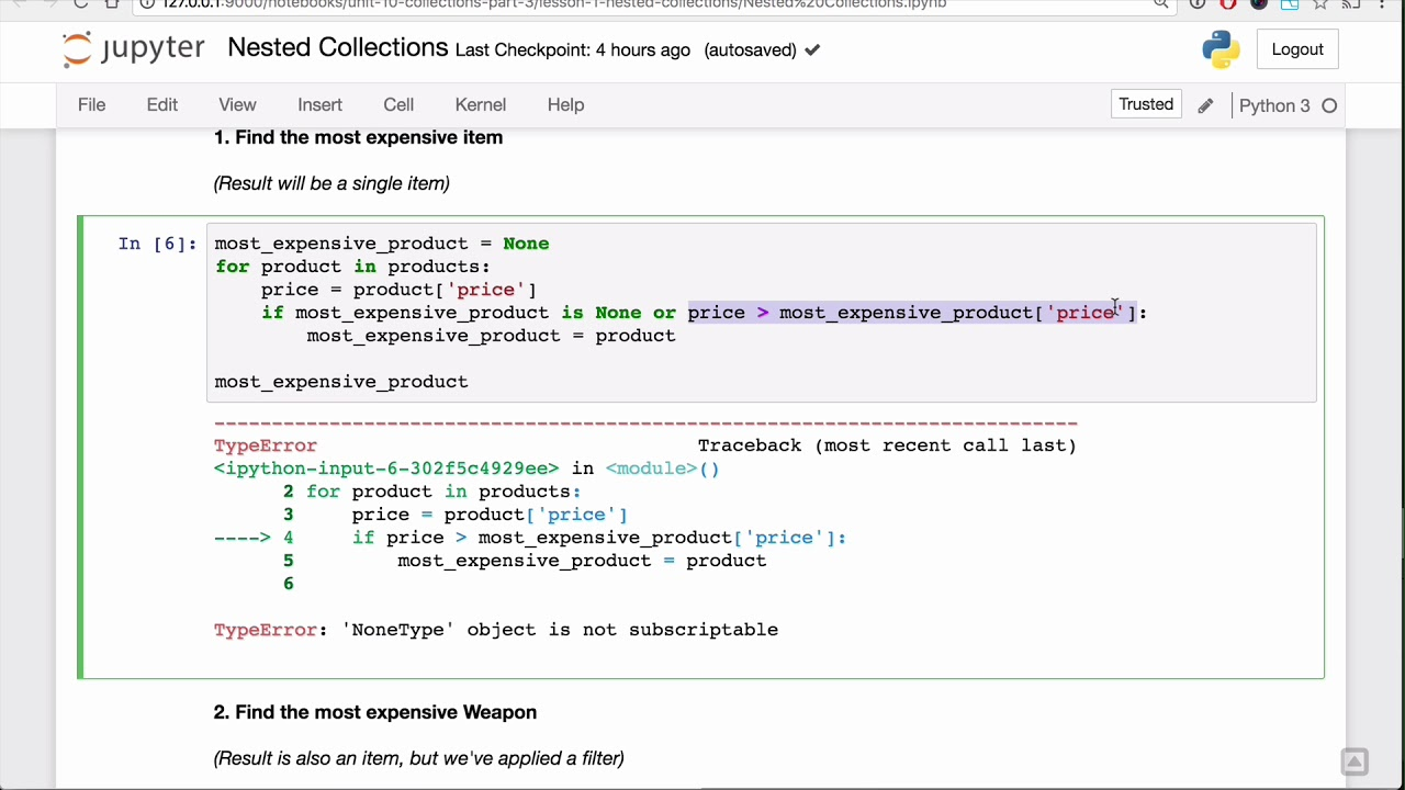 Nested Collections Lesson - Base Python Track