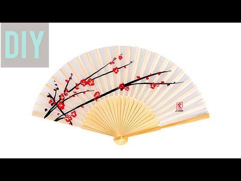 How to make Japanese fan | Hand fan making | DollHouse | DIY HAND FAN