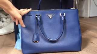 Prada saffiano lux BN2274 bluette/cornflower blue review!!