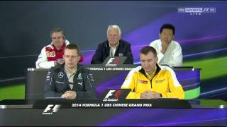 Press Conference   Powerunit Manufacturers   2014 Chinese GP