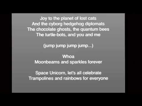Space Unicorn (by Parry Gripp) with lyrics - YouTube