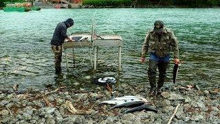 Combat fishing on Alaska's Kenai Peninsula