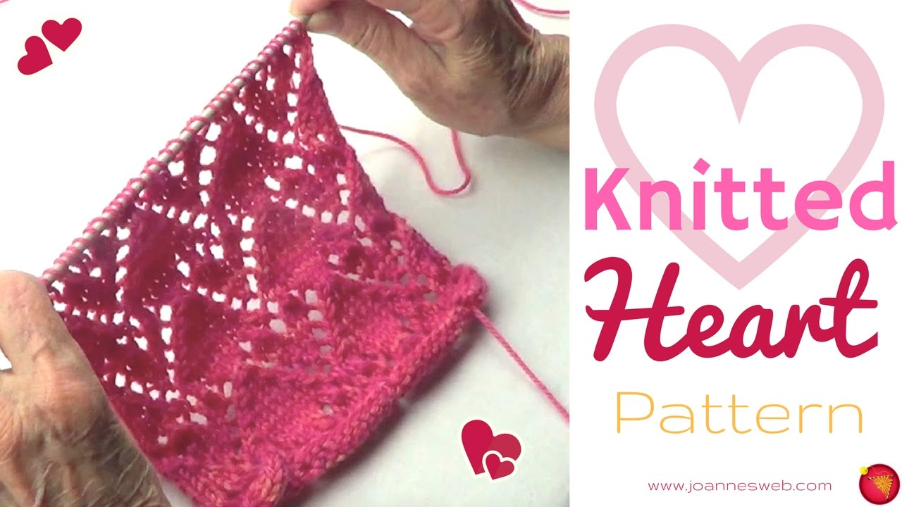 Heart Knitting Pattern | How to Knit Hearts - YouTube