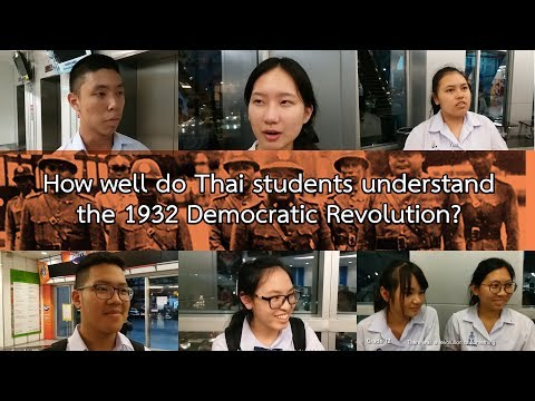 How well do Thai students understand the 1932 Democratic Revolution?