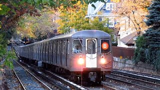 BMT Brighton Line: Brighton Beach bound R68A (B) Express Train bypassing Avenue H