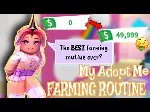 💵 My Adopt Me Farming Routine! Earn Bucks+Level Up Pets Quickly!💵