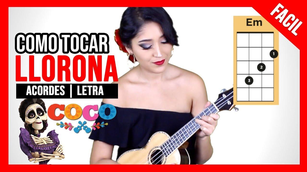"Como Tocar LLORONA de ""COCO"" | FACIL Ukulele TUTORIAL #1"