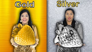 Gold vs Silver Food Challenge | Extreme Food Challenge India | Hungry Birds