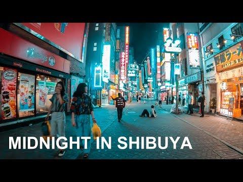 Midnight Cycling In Shibuya, Tokyo - 4K/Gopro